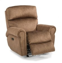 Langston Fabric Power Rocking Recliner with Power Headrest
