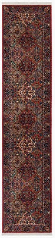 Multicolor Panel Kirman Multi Runner 2ft 6in X 12ft