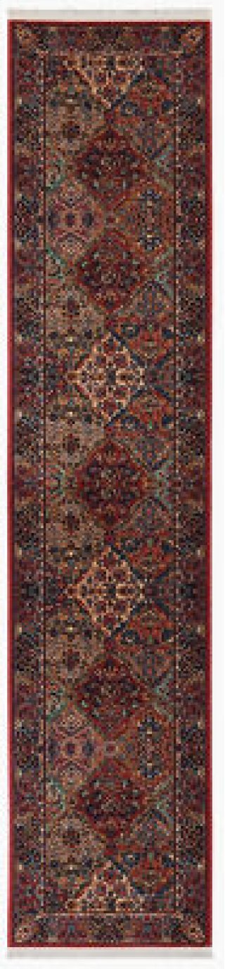 Multicolor Panel Kirman Multi Runner 2ft 6in X 12ft