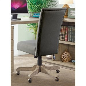 RiversidePerspectives - Upholstered Back Desk Chair - Sun-drenched Acacia Finish