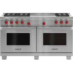 """Wolf60"""" Dual Fuel Range - 6 Burners and French Top"""