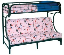 3910/5041   BLACK Metal C-Bed with Black Futon