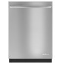 24-Inch Flush TriFecta™ Dishwasher with Built-In Water Softener, Euro-Style Stainless