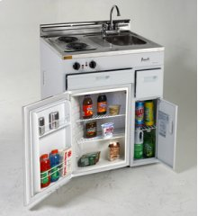"Model CK3016 - 30"" Complete Compact Kitchen with Refrigerator"
