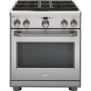 "GEMONOGRAMMonogram 30"" Dual-Fuel Professional Range with 4 Burners (Natural Gas)"