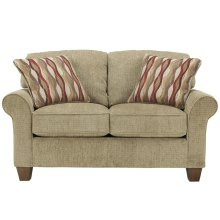 Signature Design by Ashley Newton Loveseat in Pebble Fabric