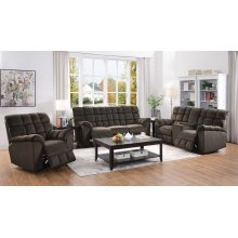 Hershey Casual Chocolate Motion Loveseat