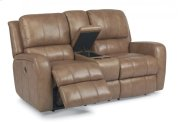 Hammond Leather Power Reclining Loveseat with Console Product Image
