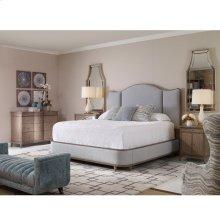 Angelina Upholstered Bed - King (Grey)