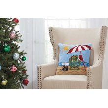 "Home for the Holiday Yx094 Multicolor 18"" X 18"" Throw Pillows"