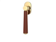 Tube Stitch In Combination Leather In Chestnut And Polished Brass