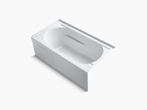 "White 60"" X 32"" Alcove Bath With Bask Heated Surface, Integral Apron and Right-hand Drain"