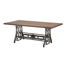 Jane Rae Wood and Metal Coffee Table
