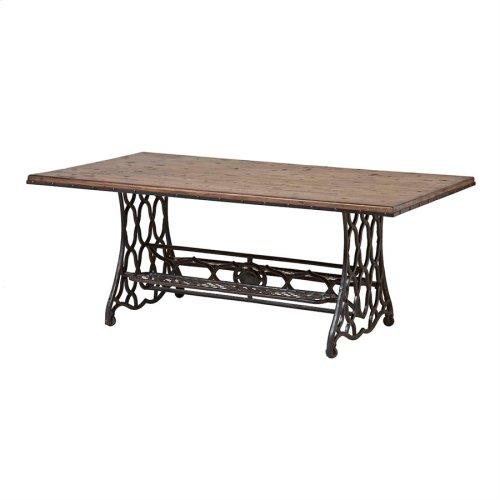 Jane Rae Wood and Metal Coffee Table
