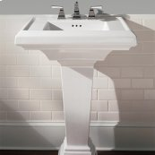 Town Square 27-inch Pedestal Sink - White