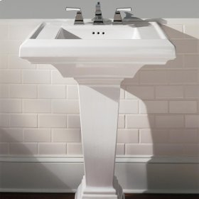 Town Square 27-inch Pedestal Sink - Linen