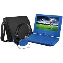 """9"""" Portable DVD Player Bundles (Blue)"""