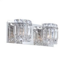 Dutchess 2-Light Vanity Sconce in Chrome with Clear Crystal Strand Shades