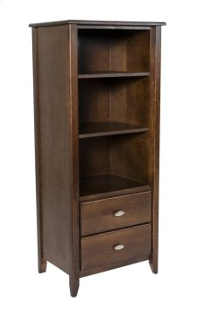 Rossport 2 Drawer Tower With Two Adjustable Shelves