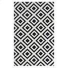 Alika Abstract Diamond Trellis 8x10 Area Rug in Black and White Product Image