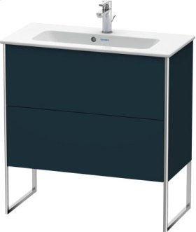 Vanity Unit Floorstanding Compact, Night Blue Satin Matt Lacquer