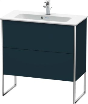 Vanity Unit Floorstanding Compact, Night Blue Satin Matt Lacquer