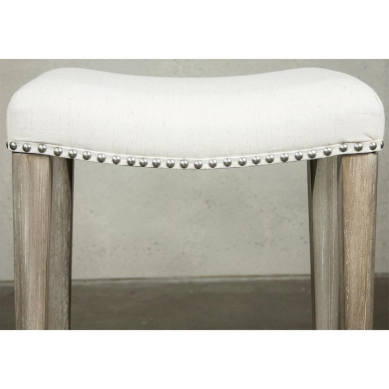 Sophie Sofa Table With Backless Upholstered Stools Natural Finish