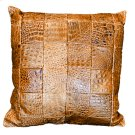 Leather Panel Pillow Product Image