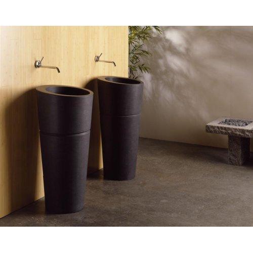 Veneto Pedestal Sink Black Granite