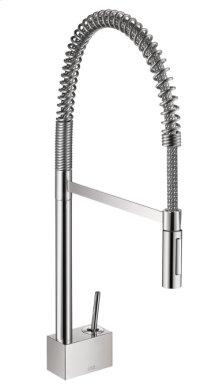 Chrome Starck 2-Spray Semi-Pro Kitchen Faucet