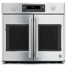"30"" Professional French-Door Electronic Convection Single Wall Oven"