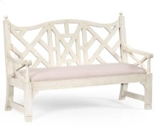 White Painted Lattice Work Bench