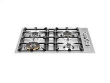 30 Drop-in low edge cooktop 4-burner Stainless