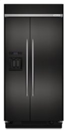 29.5 cu. ft 48-Inch Width Built-In Side by Side Refrigerator with PrintShield™ Finish - Black Stainless Product Image