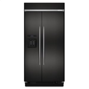 KITCHENAIDBLACK STAINLESS29.5 cu. ft 48-Inch Width Built-In Side by Side Refrigerator with PrintShield Finish - Black Stainless