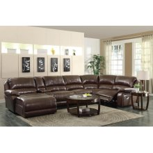 Mackenzie Casual Chestnut Motion Sectional