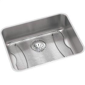 "Elkay Lustertone Classic Stainless Steel 23-1/2"" x 18-1/4"" x 7-1/2"", Single Bowl Undermount Sink Kit w/Perfect Drain"
