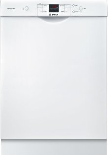 """24"""" Recessed Handle Dishwasher 300 Series- White SHE33T52UC"""