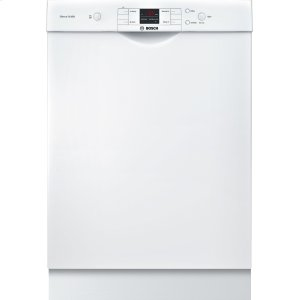 """Bosch24"""" Recessed Handle Dishwasher 300 Series- White SHE33T52UC"""