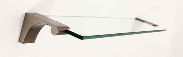 Luna Glass Shelf A6850-24 - Satin Nickel