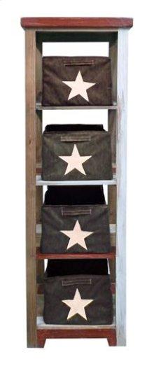 Open Box Storage 4 Shelves