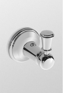 Brushed Nickel Traditional Collection Series A Robe Hook