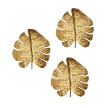 Gold Leaf Wall Art - Set of 3