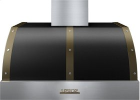 Hood DECO 36'' Black matte, Bronze 1 power blower, electronic buttons control, baffle filters