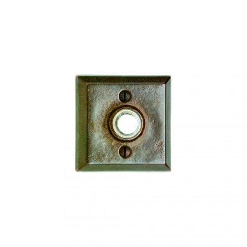 Square Doorbell Button Silicon Bronze Brushed