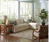 BC Options Bradbury Track Arm, Boxed Back Pillow, Tapered Leg Sectional