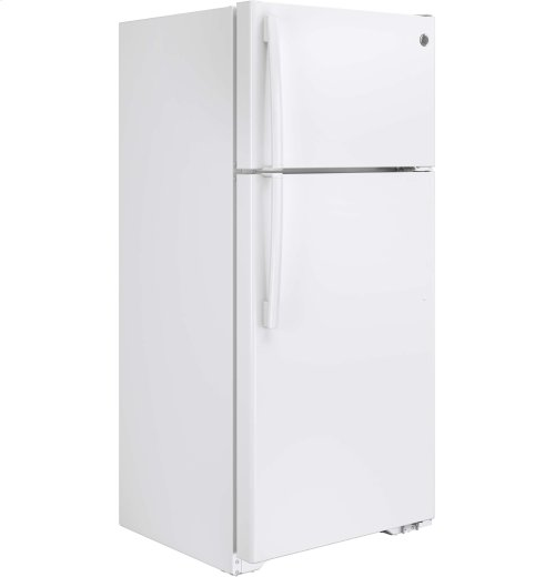 RED HOT BUY-BE HAPPY! GE® 15.5 Cu. Ft. Top-Freezer Refrigerator