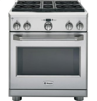 "30"" Pro Range - Dual Fuel with 4 Burners"