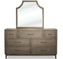 Vogue Arch Mirror Gray Wash finish