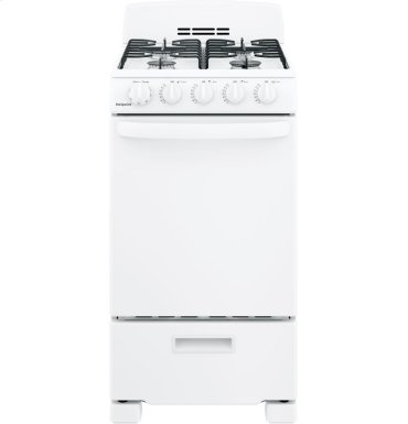 "Hotpoint® 20"" Front-Control Free-Standing Gas Range with Sealed Burners"